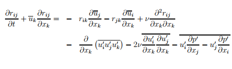 RSM transport equation